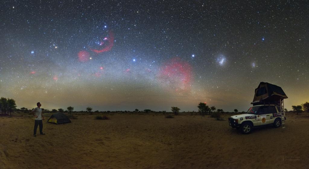 Intimate view in the Kalahari Desert
