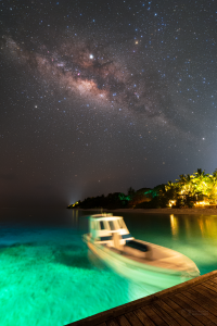 Boat and Milky Way