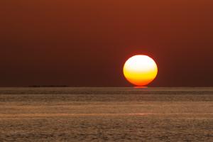Sunset over Soneva Fushi