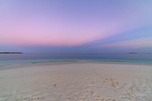 Anticrepuscular rays over Soneva Fushi