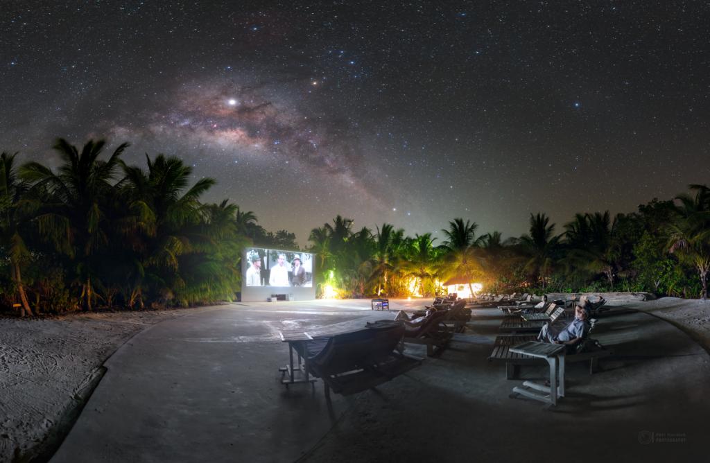 Soneva cinema under the Milky Way
