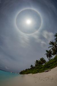 Lunar Halo over Soneva Fushi