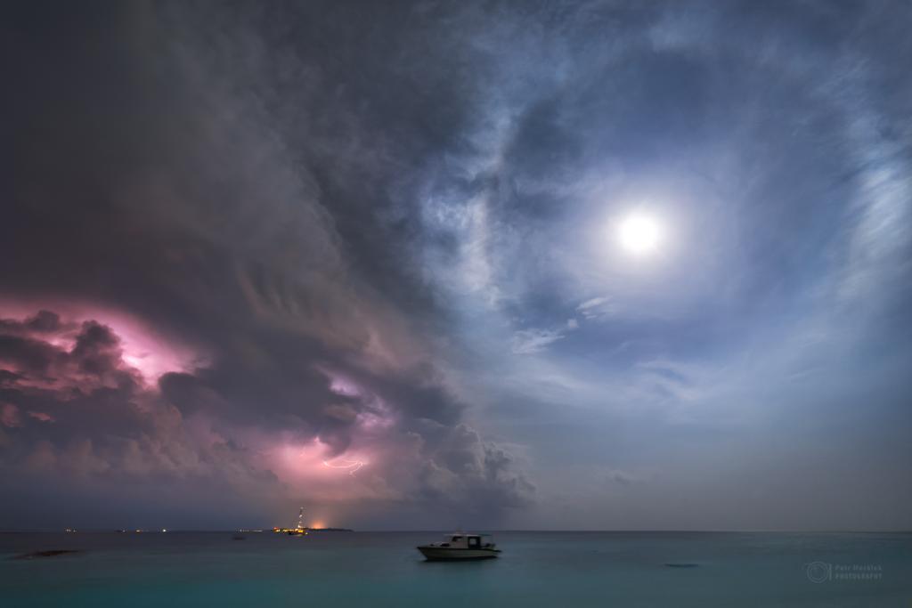 Moonlight thunderstorm