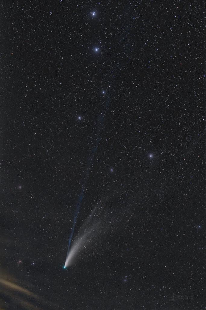 NEOWISE through Big Dipper