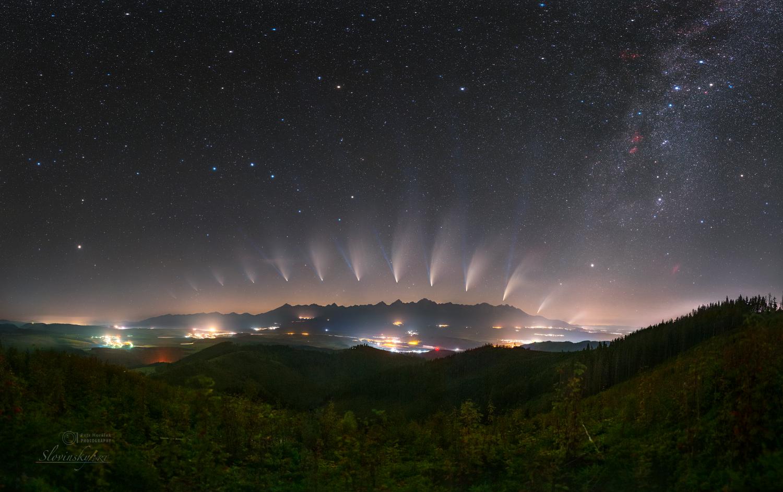 NEOWISE's Metamorphosis over High Tatras