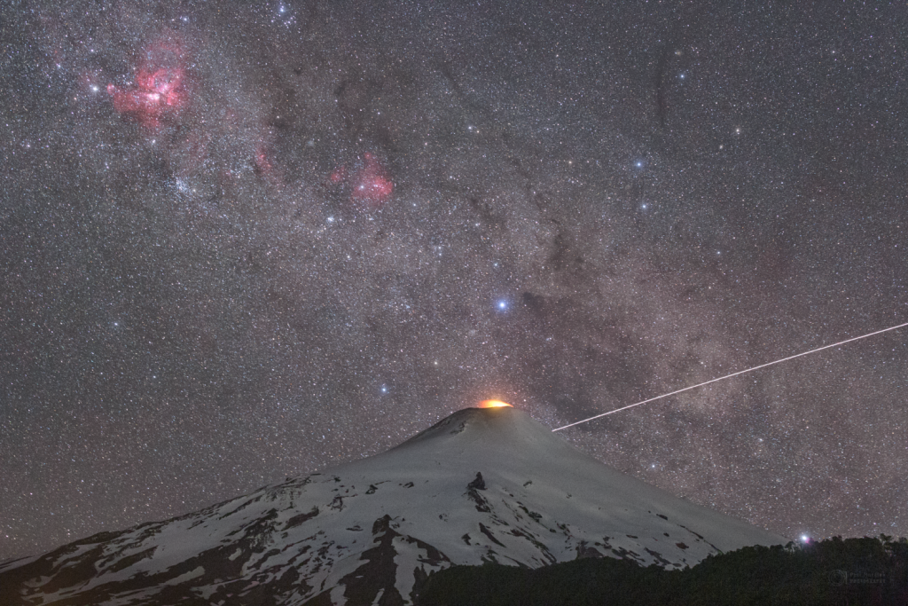 Volcano and the Space Station