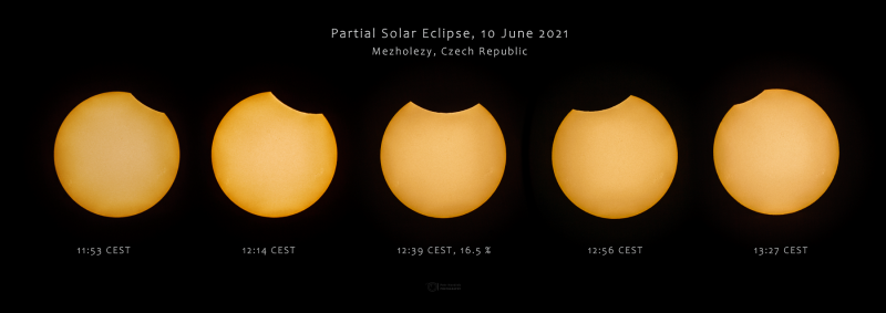 Solar eclipse on 10 June 2021 from Mezholezy